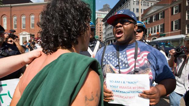 La Policía de Boston informa de 27 detenidos tras la masiva concentración contra el «Free Speech Rally»