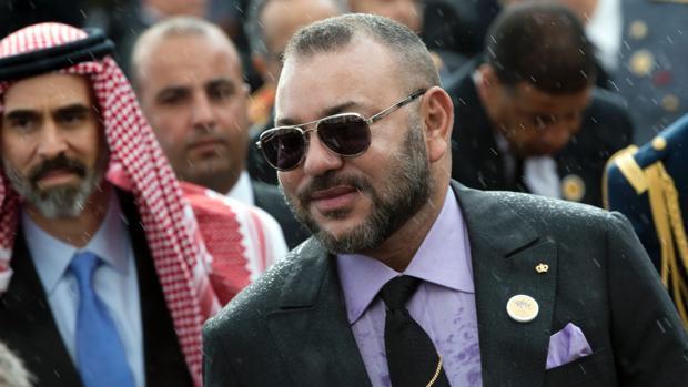 Mohamed VI de Marruecos durante la inauguración del Museo de Arte Contemporáneo de Rabat el pasado 23 de marzo
