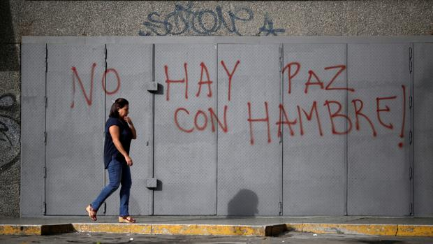 Delcy Rodríguez culpa a Estados Unidos del hambre en Venezuela