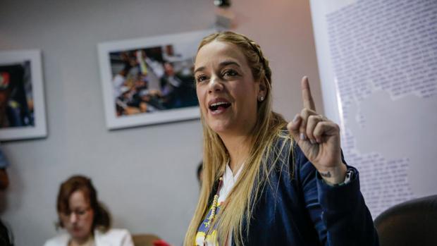 Lilian Tintori, esta semana durante una rueda de prensa