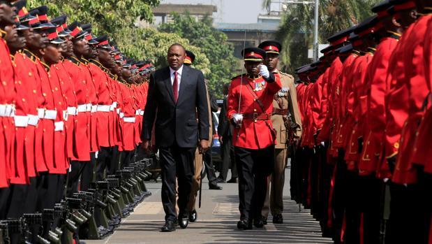 El presidente de Kenia, Uhuru Kenyatta, durante el acto de inauguración del parlamento
