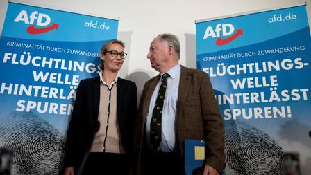 Los cabezas de cartel de la candidatura de AfD, Alexander Gauland y Alice Weidel