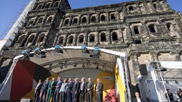 Acto electoral de la CDU, el partido de la canciller Angela Merkel
