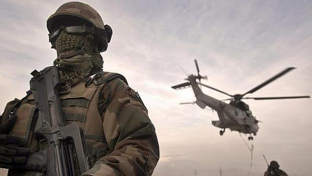 Un soldado francés en Afganistán