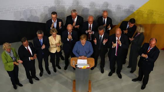 Merkel, tras saber los primeros resultados