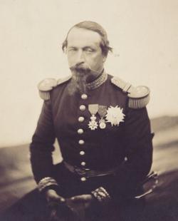 Napoleón III en 1857, retratado por Gustave Le Gray