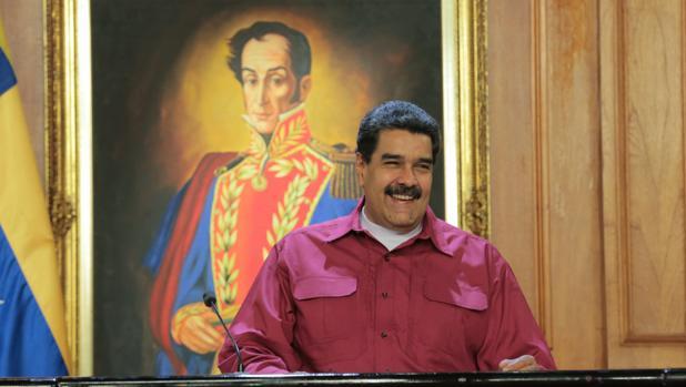 El presidente venezolano, Nicolás Maduro, durante una reunión con representantes del sector de salud