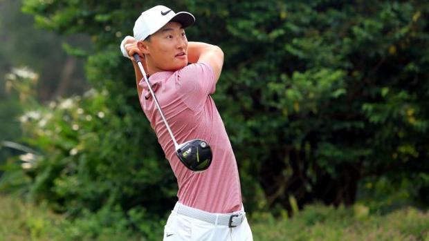 El golfista Li Haotong , el pasado julio en Hong Kong