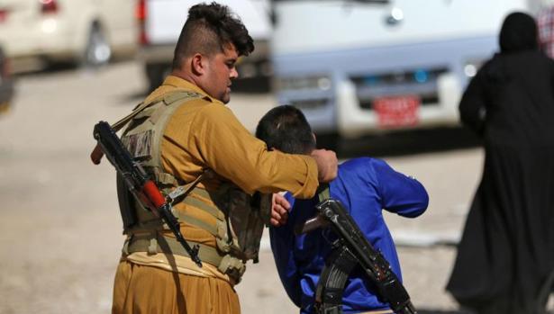 Un miliciano en Erbil, capital del Kurdistán iraquí