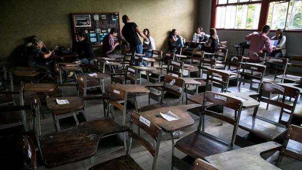 Fotografía de archivo de un aula