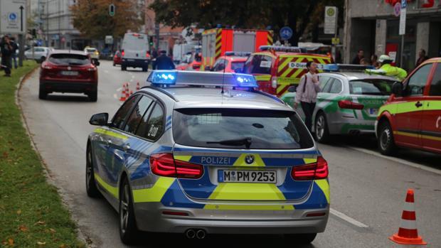 Imagen de archivo de un vehículo policial en Alemania