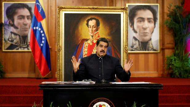 Nicolás Maduro, durante una rueda de prensa en el palacio de Miraflores