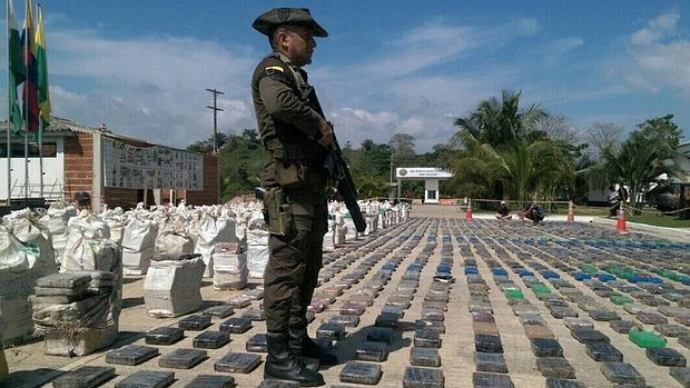 Cargamento de cocaína incautado en Colombia