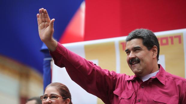 Nicolás Maduro, en un acto con seguidores este martes en Caracas
