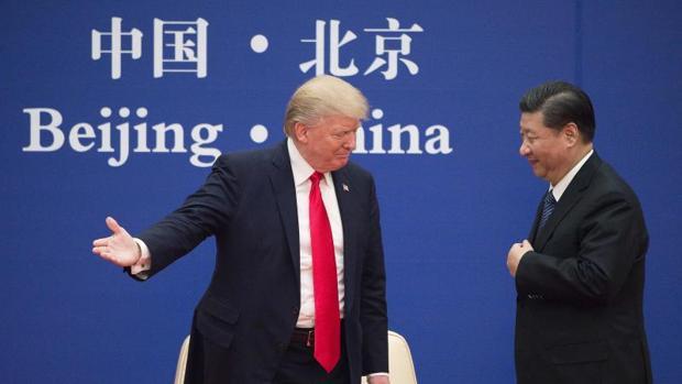 Donald Trump junto a Xi Jinping durante su visita a China