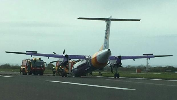 La cuenta Flight Alerts, sobre emergencias aéreas, ha publicado esta fotografía del incidente