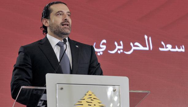 Saad Hariri, el pasado 3 de noviembre en un acto en Beirut