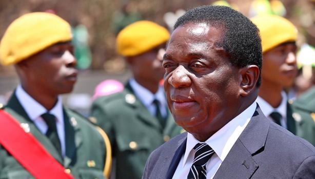 El vicepresidente Mnangagwa, en un acto oficial el 1 de noviembre