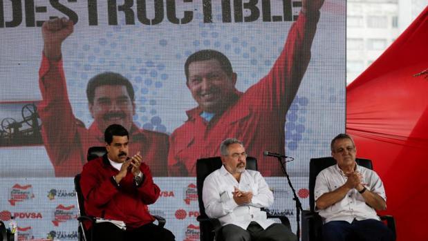 Nicolás Maduro, Nélson Martinez y Eulogio del Pino en una imagen de archivo