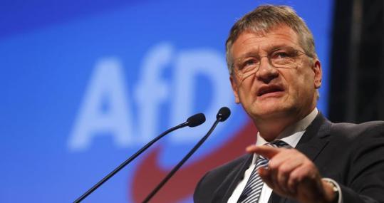 Jörge Meuthen, en el congreso de AfD en Hannover