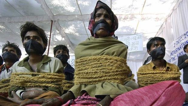 La esclavitud moderna incluye el trabajo forzoso, el matrimonio forzoso y la trata de personas, entre otros conceptos