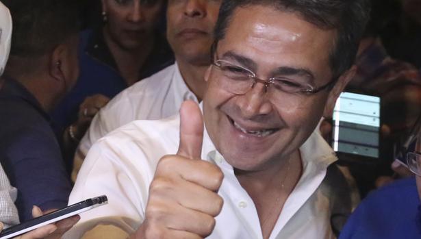 Juan Orlando Hernández, en una imagen de la semana pasada