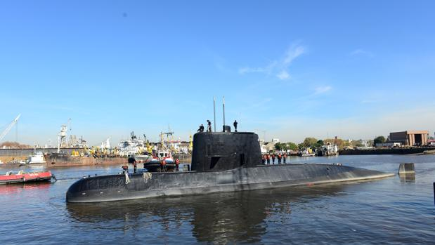 El submarino ARA San Juan, en una imagen de 2014