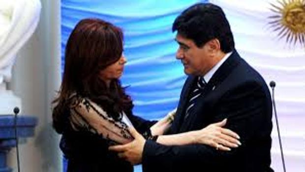 Cristina Fernández de Kirchner, con Carlos Zannini, en una imagen de archivo