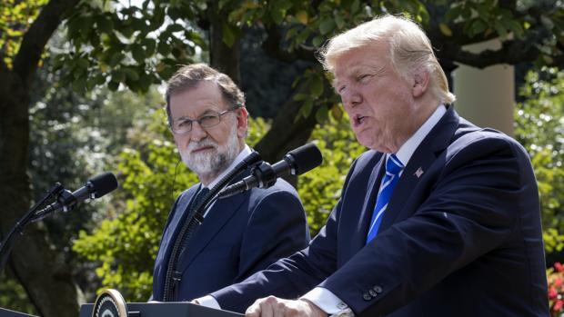 Mariano Rajoy y Donald Trump, durante su encuentro en la Casa Blanca en septiembre