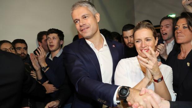 Laurent Wauquiez, tras conocer su victoria en las primarias de Los Republicanos