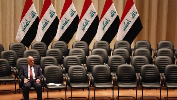 El primer ministro iraquí, Al Abadi, en el Parlamento