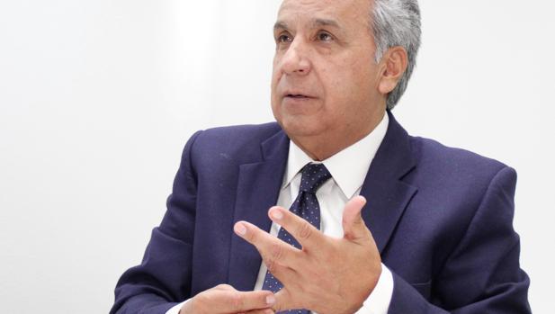 Lenín Moreno, presidente de Ecuador, en la entrevista con ABC