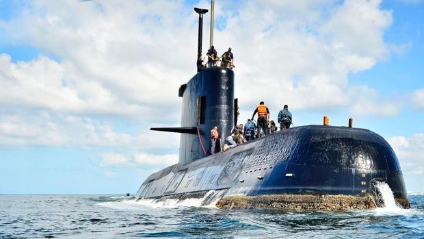 Fotografía facilitada por la Armada Argentina del ARA San Juan, desaparecido con 44 tripulantes a bordo