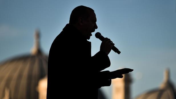 El presidente de Turquía, Recep Tayyip Erdogan, en un acto el pasado 15 de diciembre