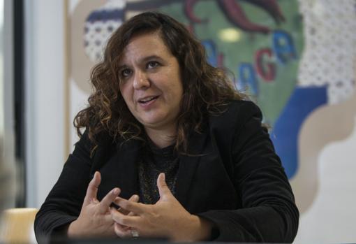 La periodista Marcela Turati, durante la entrevista en La Casa Encendida