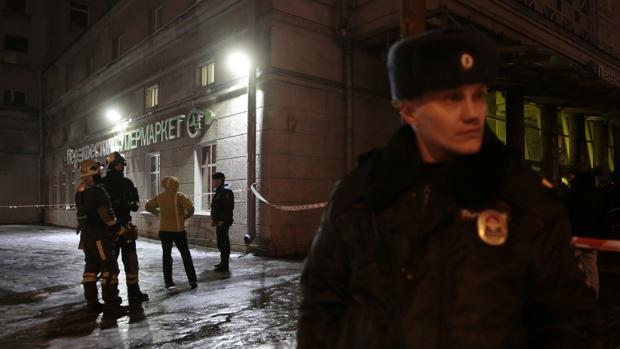 Diez heridos en una explosión en un supermercado de San Petersburgo