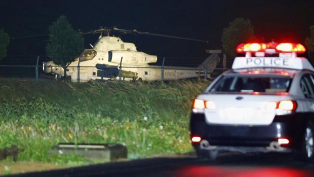 Un helicóptero militar de EE.UU. hace un aterrizaje de emergencia en un hotel de Okinawa