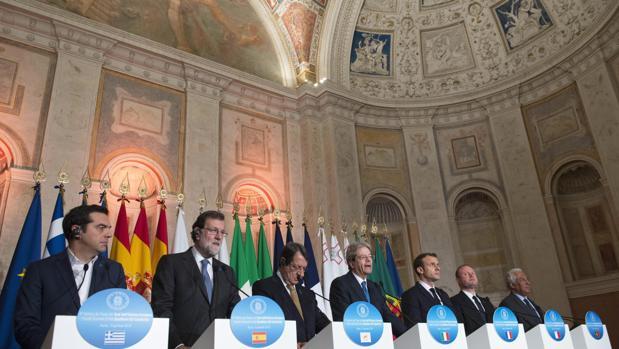 Comparecencia de los líderes participantes en la cumbre de países del sur de Europa