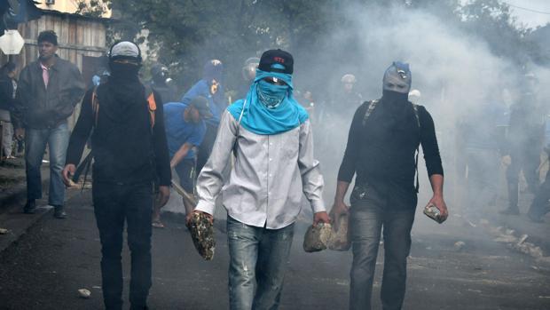 Violentas protestas en Honduras a una semana de que el presidente Hernández renueve su mandato