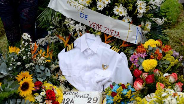 Tumba de Óscar Pérez en el cementerio del Este, en Caracas