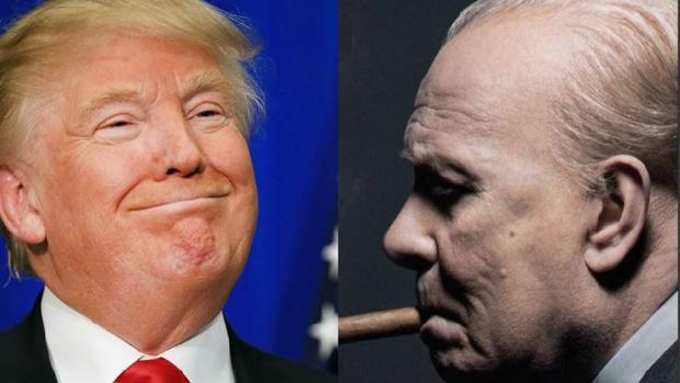 Trump le dijo a May que él era «el nuevo Churchill» tras ver la película «El instante más oscuro»
