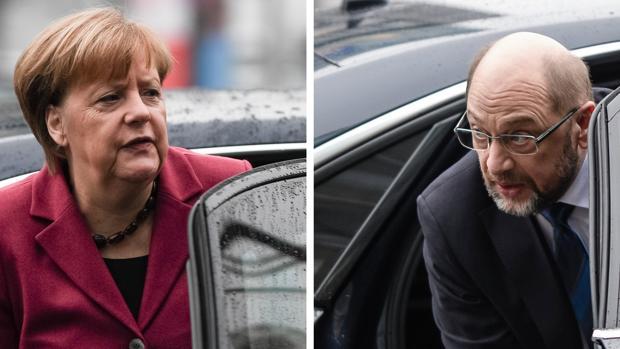 Merkel y Schulz se ponen el 4 de febrero como fecha límite para acordar una nueva Gran Coalición