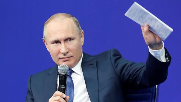 Putin, en una reunión con los miembros de su campaña electoral en Moscú