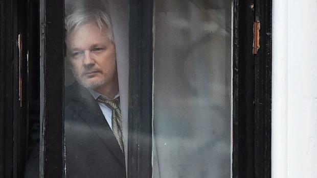 Julian Assange, en la Embajada de Ecuador en Londres en una imagen de febrero de 2015