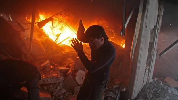 Ataque de las fuerzas afines a Assad contra combatientes de las SDF en El Guta Oriental