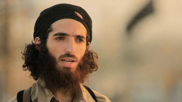 Imagen de televisión del terrorista de origen cordobés que alabó en un vídeo a los terroristas de Barcelona y Cambrils
