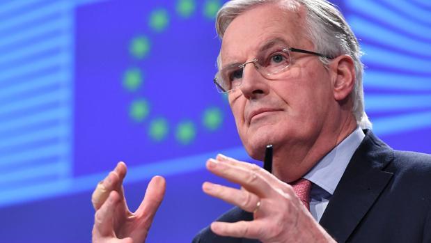 El jefe negociador europeo, Michel Barnier, este viernes en la sede la Comisión Europea en Bruselas