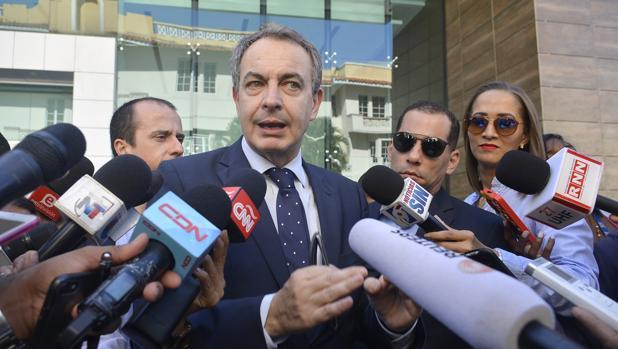 Rodríguez Zapatero, antes de uno de los encuentros esta semana entre Gobierno y oposición venezolana
