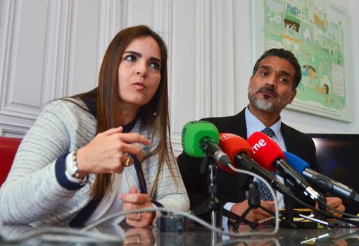 Los abogados Tamara Suju y Juan Carlos Gutiérrez, este viernes en Madrid