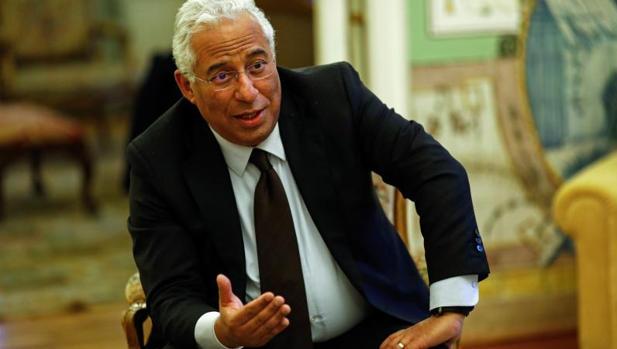 António Costa, durante la entrevista en la residencia del embajador de Portugal en Madrid